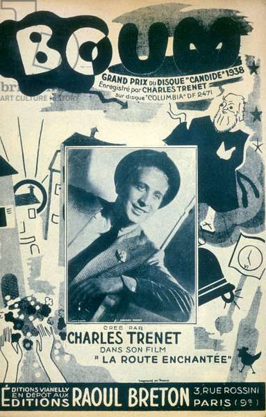 "Charles Trenet ""Boum"" 1938. Editions Raoul Breton"
