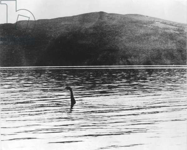 Loch Ness monster legend in Scotland, 1934 photo on way toward Inverness