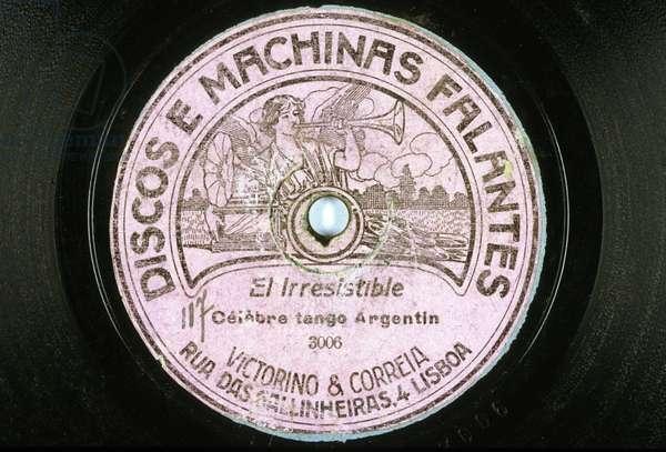 Vinyl record: El Irresistible, famous tango Argentinean Discos e machinas Falantes Lisbon