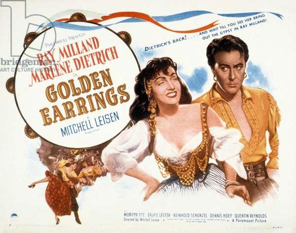 Les Anneaux d'or (Golden Earrings) de Mitchell Leisen avec Marlene Dietrich, Ray Milland, 1947