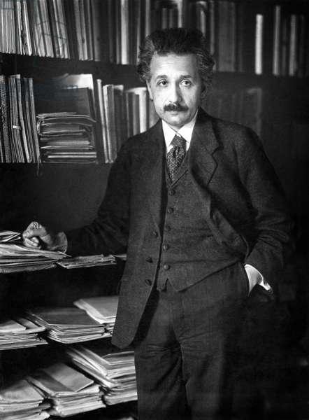 Albert Einstein(1879-1955) swiss (German-born) theoretical physicist, in 1920