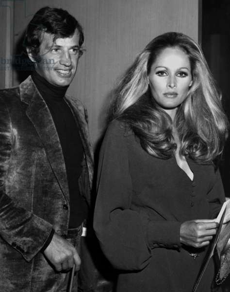 Jean-Paul Belmondo and Ursula Andress at premiere of Midnight cow boy in Hollywood 1969