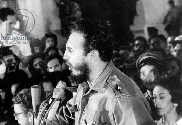Speech of Fidel Castro, head of cuban state in Havana during which he explains the agreements made with NikitaKroutchev and USSR October, 30 1962 (at time of cuban missile crisis)