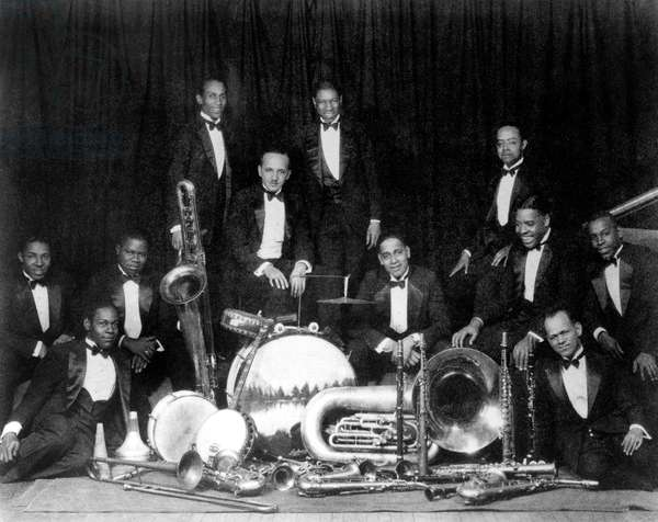 The Fletcher Henderson Band with Coleman Hawkins, Louis Armstrong, Fletcher Henderson, Baster Boiley, Don Redman c. 1924