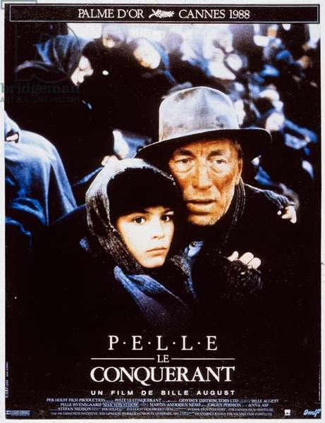 Affiche du film Pelle le conquerant de BilleAugust avec Pelle Hvenegaard et Max von Sydow 1987 (Palmed'or1988)