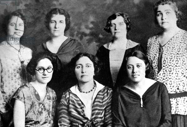 Golda Meir (1898-1978) 2nd from left, future Israeli Prime Minister, here as a teacher in Milwaukee (Wisconsin) in 20's