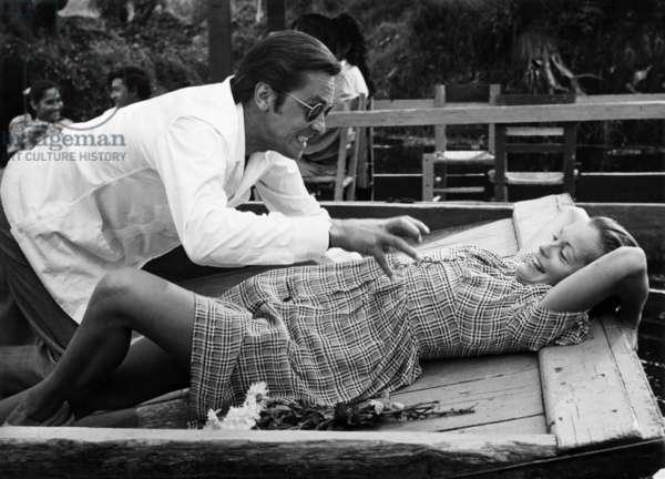 "L' Assassinat de Trotsky "" Assassination of Trotsky "" de JosephLosey avec Alain Delon et Romy Schneider en 1972"