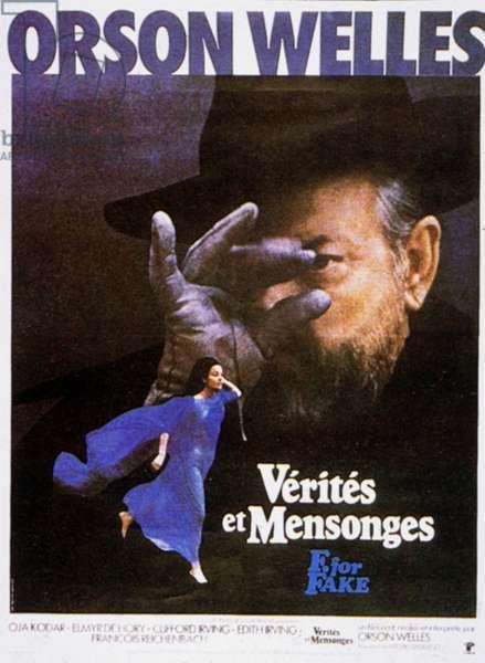 Affiche du film Verites et mensonges de OrsonWelles avec Orson Welles et Oja Kodar 1974