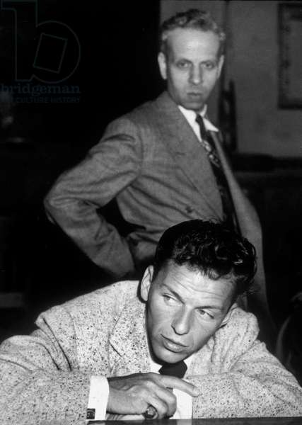 Frank Sinatra during trial with Lee Mortimer April 10, 1947