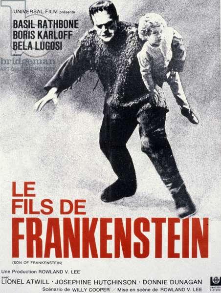 Affiche du film Le fils de Frankenstein (frankenstein son) de RowlandV.Lee avec Boris Karloff 1939
