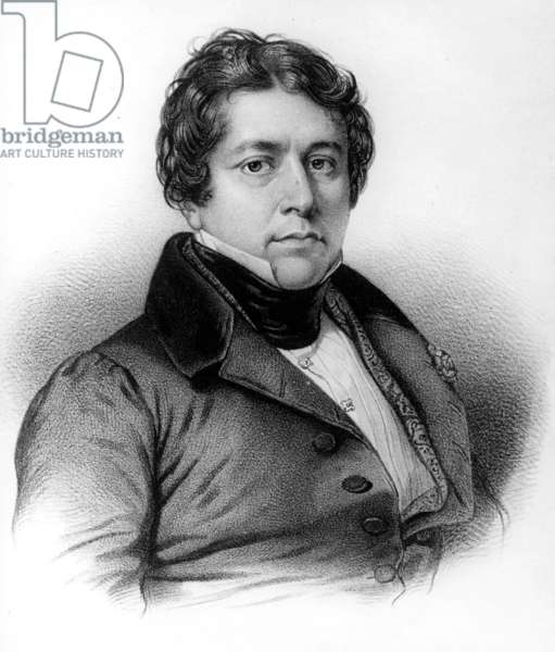 Jean Auguste Dominique Ingres (1780-1867) French painter, engraving
