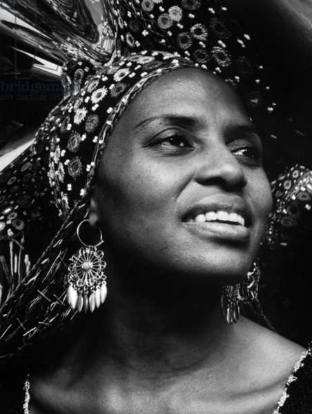 Miriam Makeba (1932-2008) south african Singer and and civil rights activist c. 1970
