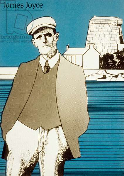 James Joyce (colour litho)
