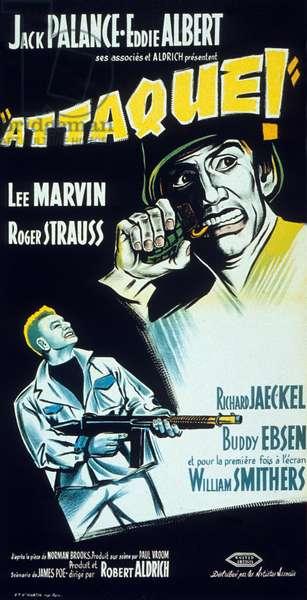 Affiche du film Attaque! (attack) de RobertAldrich avec Jack Palance  1956