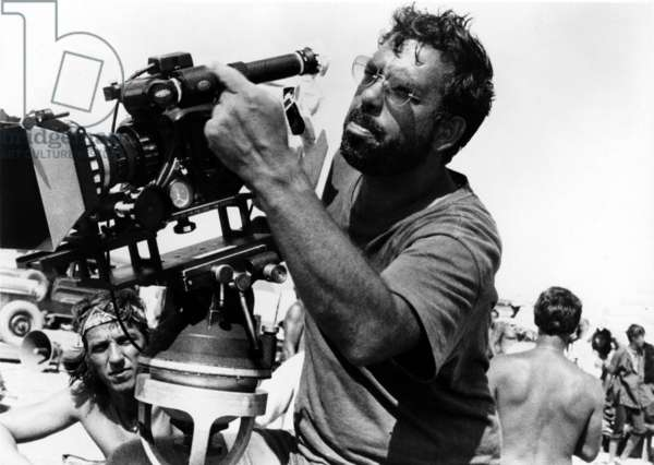 Director Francis Ford Coppola on set of film Apocalypse Now 1979