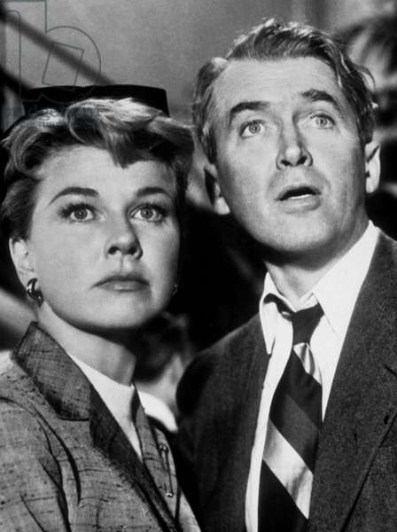 """Doris Day and James Stewart in the movie """"The Man Who Know Too Much"""" 1958"""
