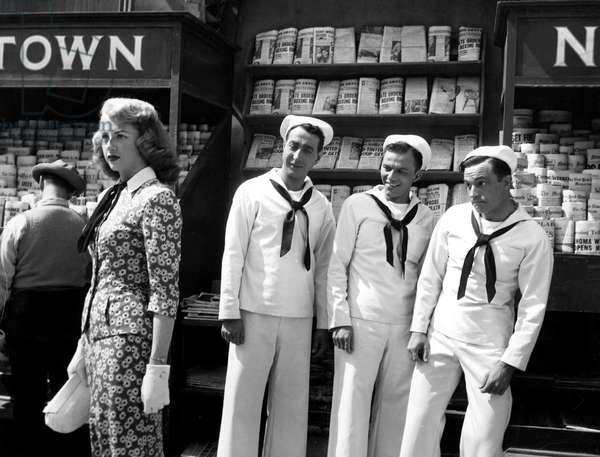 Un jour a New York ON THE TOWN de StanleyDonen et GeneKelly avec Jules Munchin Frank Sinatra et Gene Kelly 1949