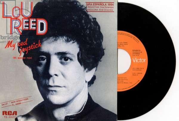 "Lou Reed singles ""My red Joystick"" vinyl record pouch (Mi aparato Rojo) 1984"