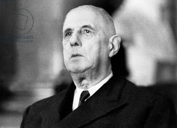 French President Charles De Gaulle May 24, 1966 at international medical ethics congress France