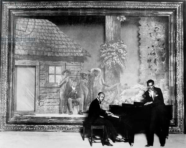 Jazzmen Eubie Blake (piano) and Noble Sissle performing c. 1926