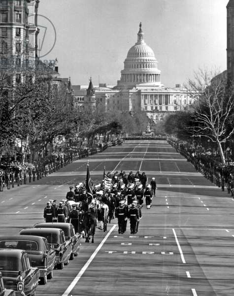 Funeral of American President John Fitzgerald Kennedy in Washington on November 25, 1963