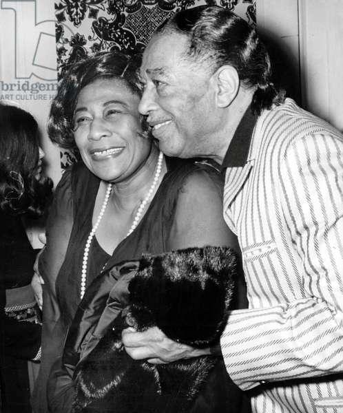 Ella Fitzgerald and Duke Ellington in Los Angeles June 01, 1971