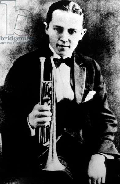 Leon Bismark Beiderbecke aka Bix Beiderbecke (1903-1931) American jazz cornetist, jazz pianist, member of Wolverines band 1924
