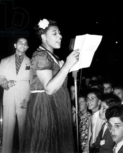 Ella Fitzgerald (1917-1996) American jazz Singer, here on stage, c. 1937
