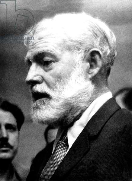 American writer Ernest Hemingway in Madrid on August 20, 1960