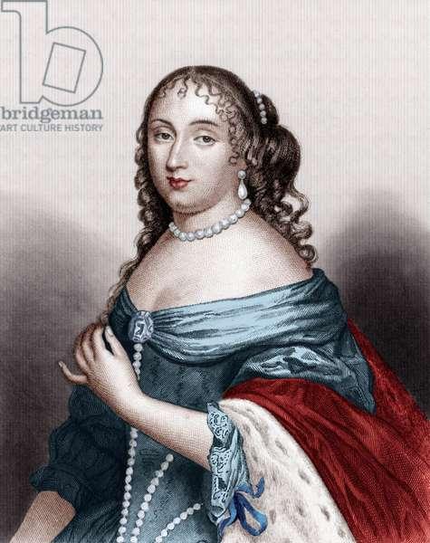 Charlotte Catherine de Gramont (1639-1678) Princess of Monaco (Louis1er's wife), engraving