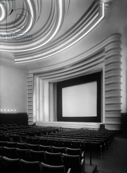 "Movie theater ""Normandie"" in Paris built in 1937, Art Deco style, architects Pierre de Montaut and Adrienne Gorska"