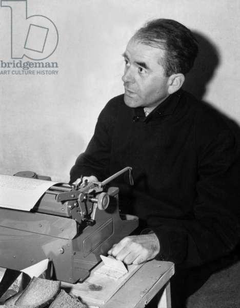 Albert Speer in his celle during the Nuremberg trials December 08, 1945