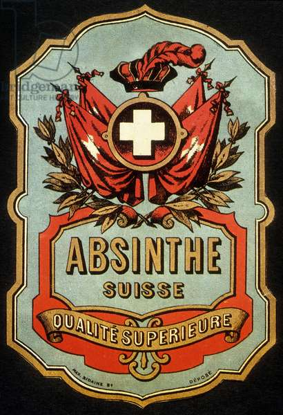 Label for swiss absinthe c. 1900