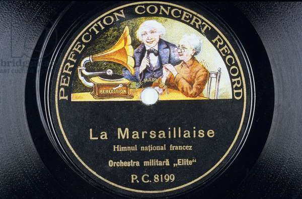 Vinyl Disc: La Marseillaise (Marsaillaise) by the military orchestra Elite PC 8199 perfection concert record