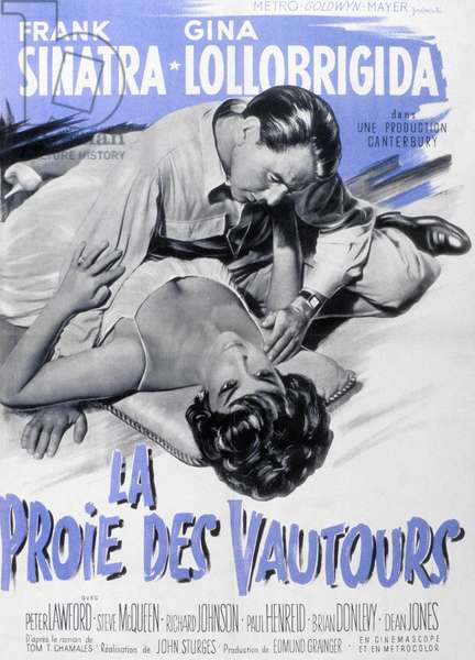 Affiche du film Never So Few (Campagne Birmanie) de John Sturges avec Frank Sinatra, Gina Lollobrigida, 1959.
