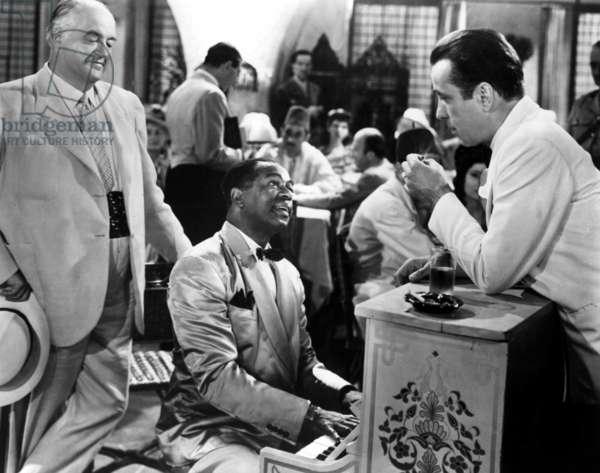 CASABLANCA de MichaelCurtiz avec Humphrey Bogart et Dooley Wilson (au piano), 1942 Oscar1943