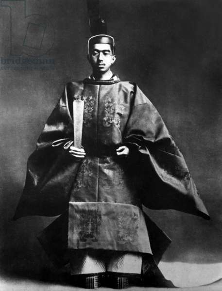 Hirohito (1901-1989) regent in 1921-1926 and then emperor of Japon in 1926-1989 (Showa era), here in full regala for coronation in 1926
