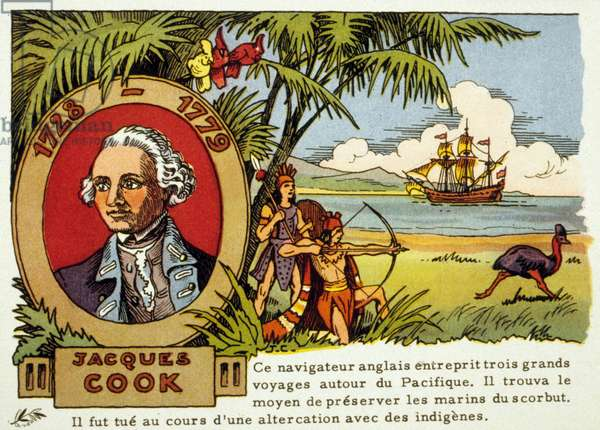 James Cook (1728-1779) English sailor and explorer