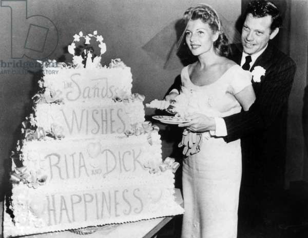 Wedding of Rita Hayworth and her 4th husband Dick Haymes September 24, 1953