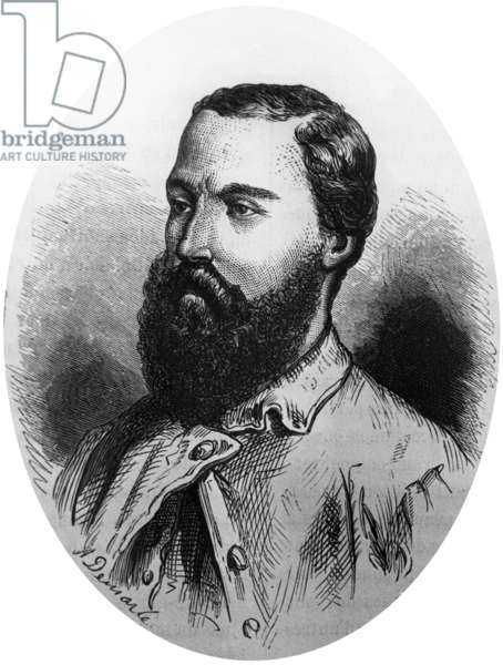 Sir Samuel White Baker (1821-1893) English explorer (Nile), engraving