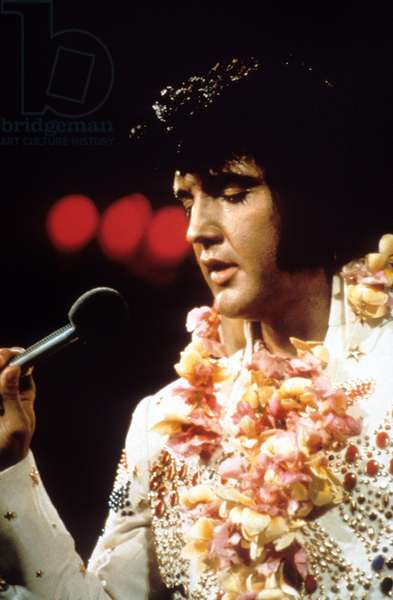 Elvis Presley during his concert at Convention Center in Honolulu, Hawaii en 1973