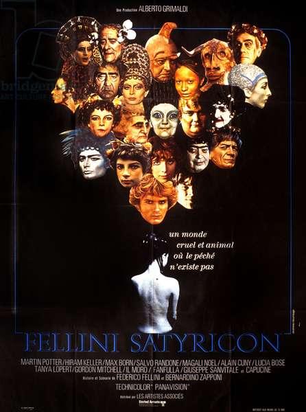 l Affiche du film Satyricon de FedericoFellini en 1969
