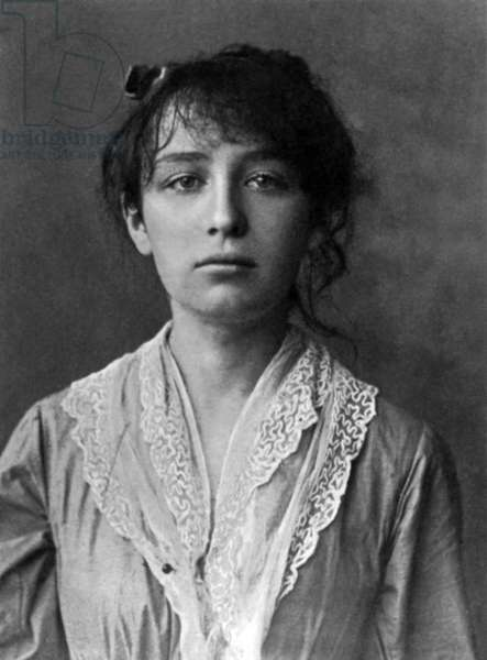 French sculptor Camille Claudel (1864-1943) here in 1884
