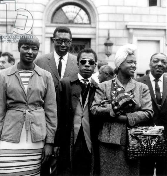 James Baldwin (1924-1987) during a demonstration at the American Church in Paris France 21 August 1963 to support the March on Washington which was held at that time