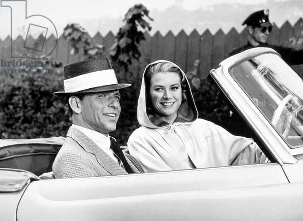 Haute Societe High society avec Frank Sinatra et Grace Kelly (au volant d'une Mercedes 190 SL) 1956