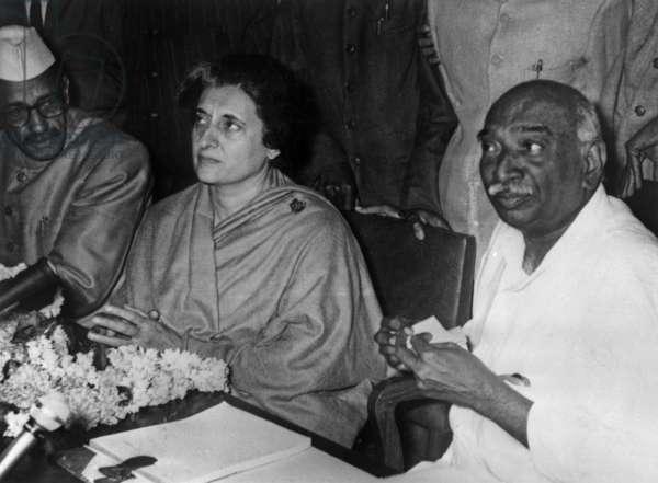 Gulzarilal Nanda, Indian minister of interior, Indira Gandhi, Indian Prime Minister, Kumaraswami Kamaraj President of congress, 1966