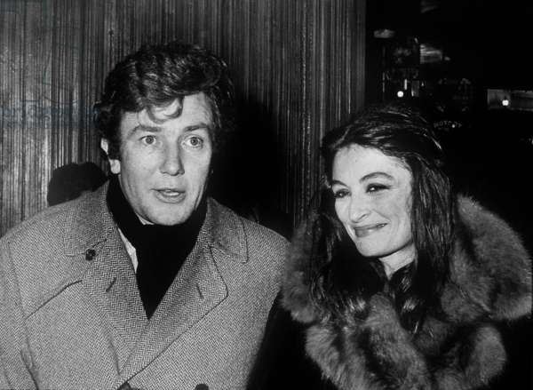 English director and Actor Albert Finney with Actress Anouk Aimee c. 1975