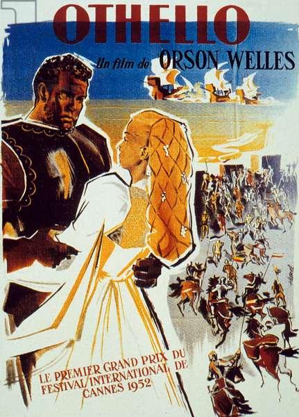 Affiche du film Othello de OrsonWelles avec Orson Welles et Suzanne Cloutier, 1952