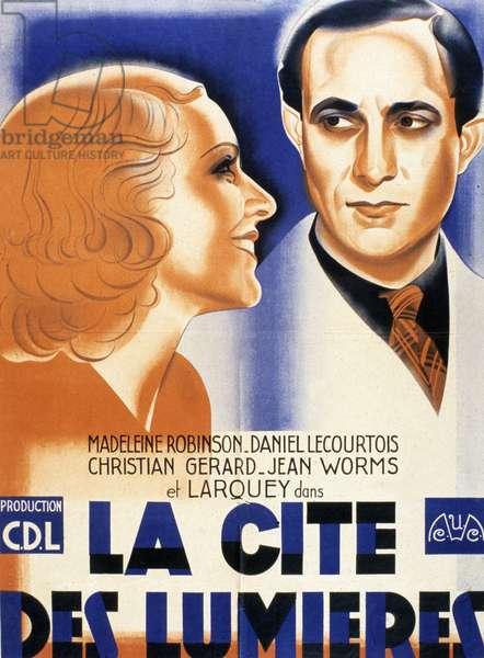 Affiche du film La cite des lumieres de JeandeLimur 1938