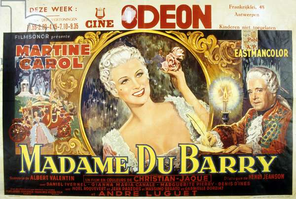 Madame du Barry de Christian Jaque avec Martine Carol, 1954
